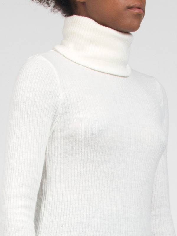 Rib Turtleneck White