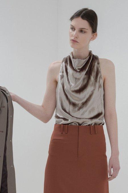 Nomia Cowl Halter - Panne Velvet