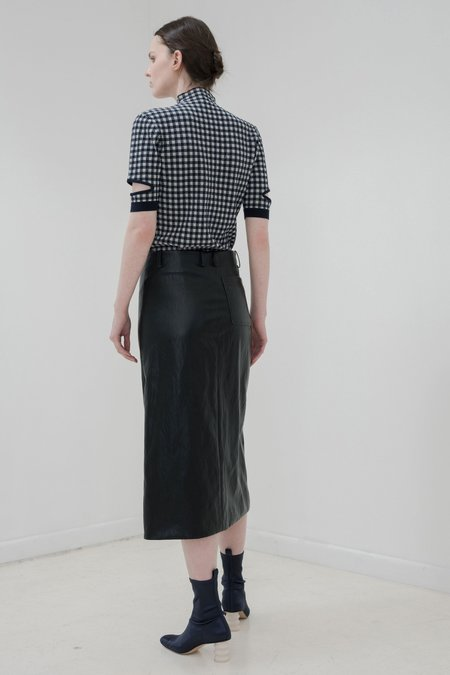 Nomia Slit Front Skirt - BLACK