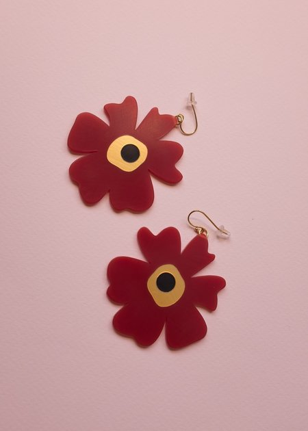 Woll Large Poppies earring