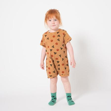 KIDS Bobo Choses Baby Romper With Geometric Pollen Print - Orange Brown