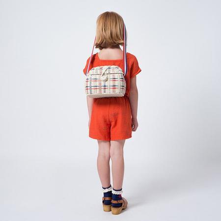 KIDS Bobo Choses Princess Handbag - Red And Blue Lines/Off-White
