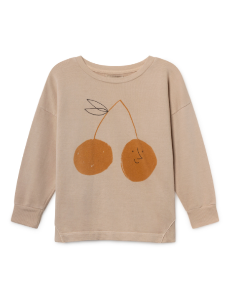 Kids Bobo Choses Cherry Round Neck Sweatshirt