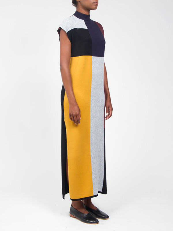 Vera Geo Column Dress