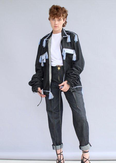 Loza Maleombho Dagbaro Jeans - Dark Grey Wash