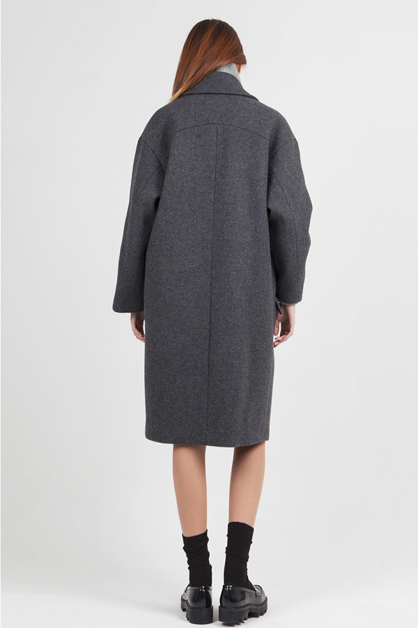 LOOKAST Oversized Long Coat- Grey