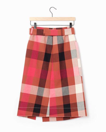 Cedric Charlier Plaid Skirt - Pink/Multi