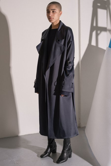 Nomia Oversized Trench Coat - Midnight