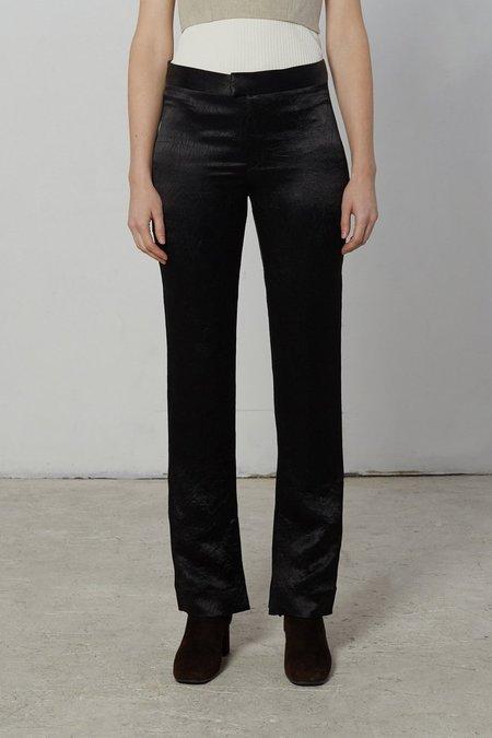 Nomia Slit Hem Pants - Black