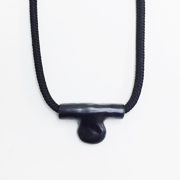 Aubrey Hornor Tab Necklace