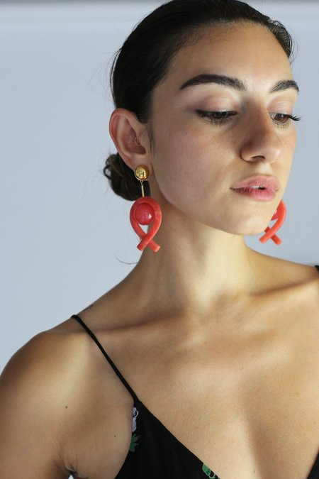 Rachel Comey Loma Earrings - Pink & Raspberry