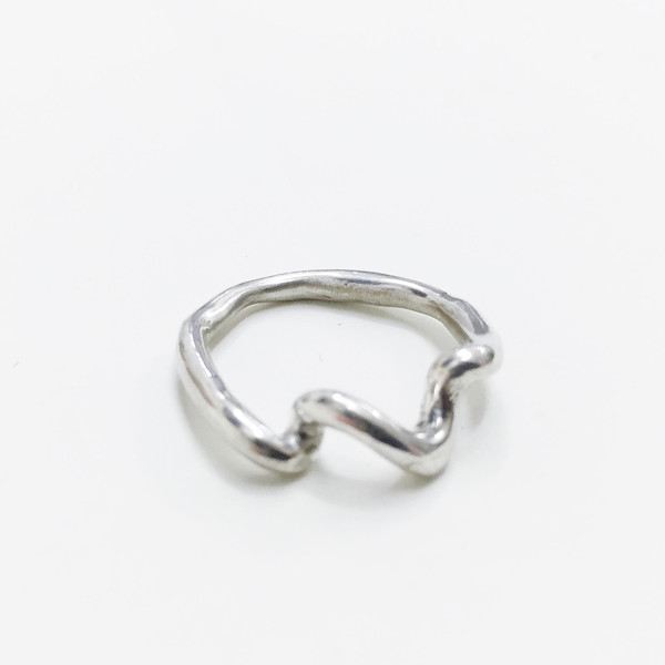 Lane Walkup Silver Coil Ring