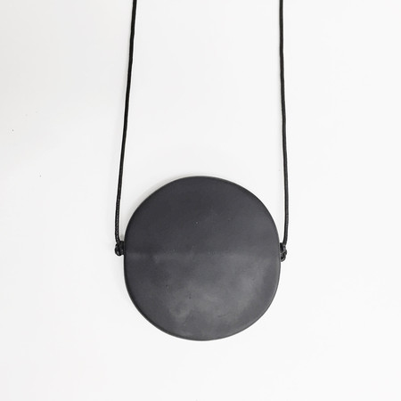 Sea + Pattern Black Radial Necklace