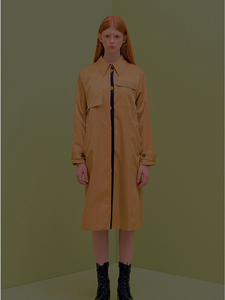 CITYBREEZE Colored Trench Coat - Beige