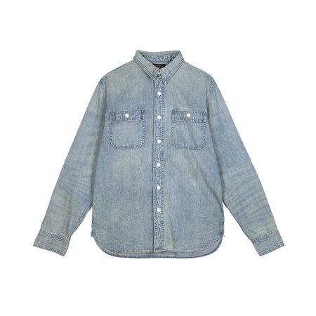 f012f2161f3 ... RRL Denim Work Shirt - Washed Indigo