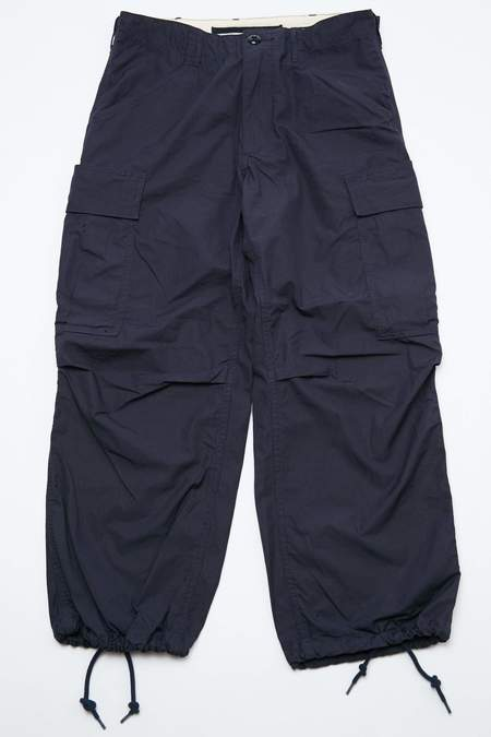 Beams+ Cotton Ripstop Cargo Pants - Navy