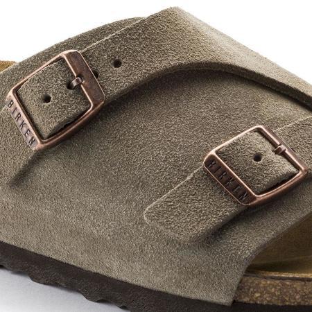 Birkenstock Zurich - Taupe Suede Leather