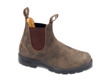 Blundstone Style 585 Lined Elastic Sided V-Cut Boot - Rustic Brown