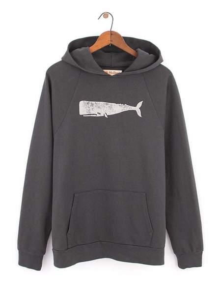 Mollusk Olde Whale Hoodie - Faded Black