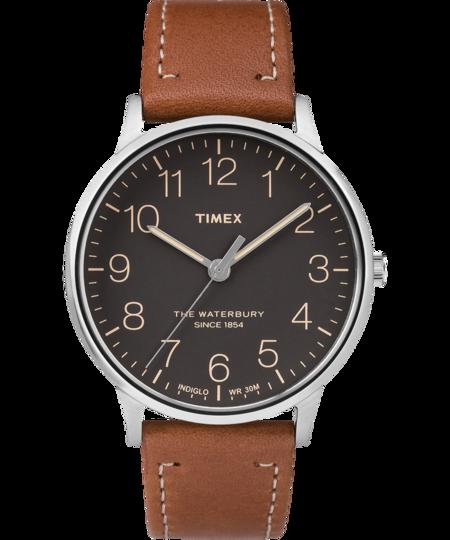 Timex Waterbury Watch - Stainless Steel/Brown/Black