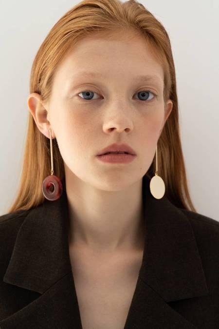 Bae Bae Separate Bar Earrings - Gold