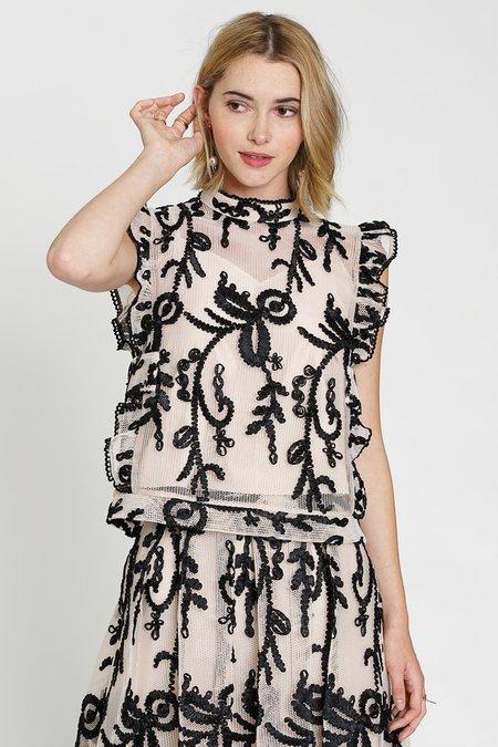 dRA Clothing Kayla Top - ribbon embroidery