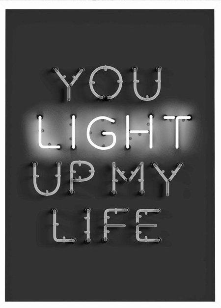 PETEK DESIGN You Light Up My Life Print