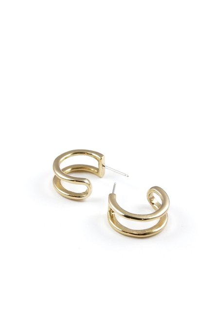 Tiro Tiro Tiny Gemini Earrings - brass/sterling silver