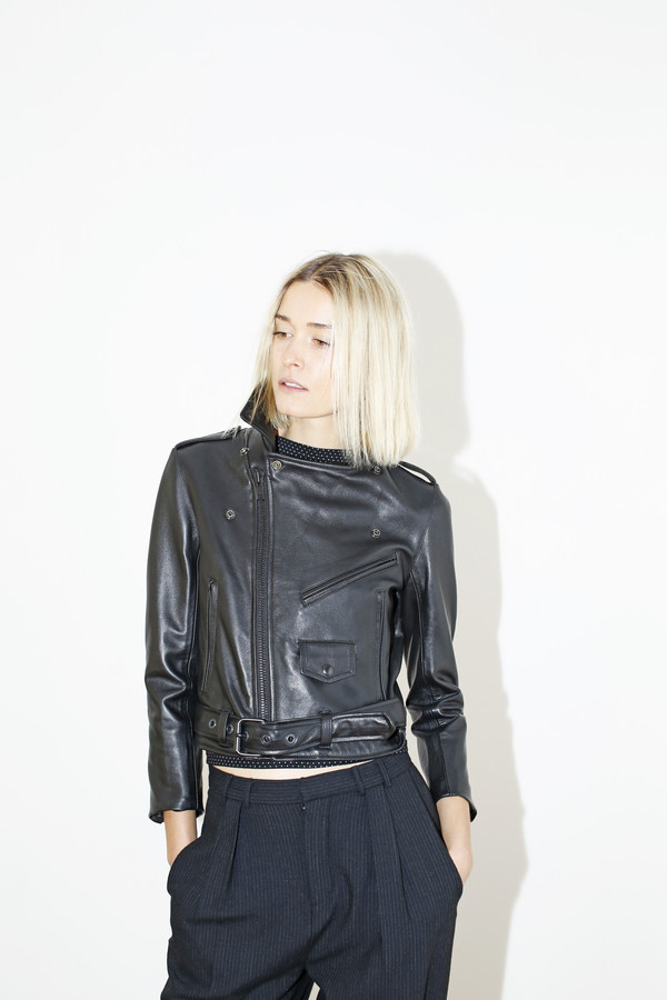 MARKOO Leather Electra Jacket - Black