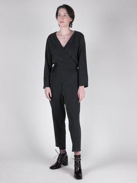IGWT NYC Tiffany Jumpsuit - Charcoal Jacquard