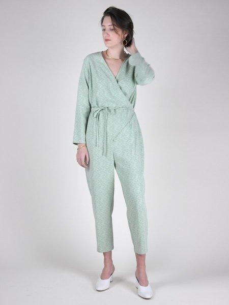 IGWT NYC Tiffany Jumpsuit - Seafoam Jacquard