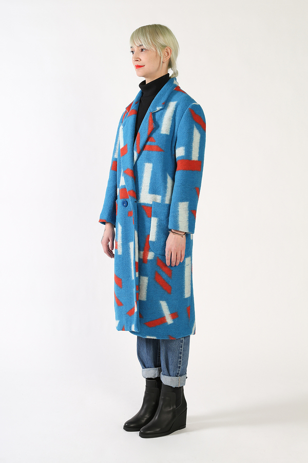 Kurt Lyle WOOL CONFETTI COAT
