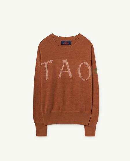 KIDS The Animals Observatory TAO Bull Sweater - Dark Brown