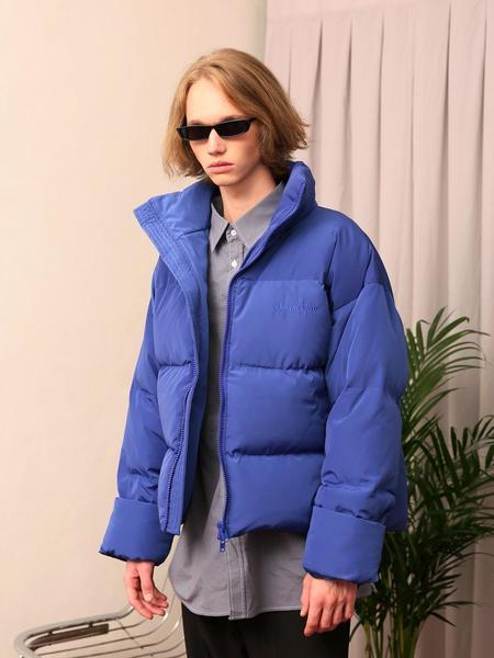 Unisex APPARELXIT Signature Duckdown Short Padding Jacket - Blue