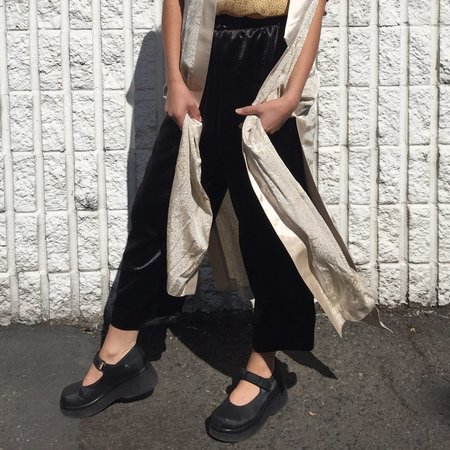 Laurs Kemp Lounge Pants - Black Satin