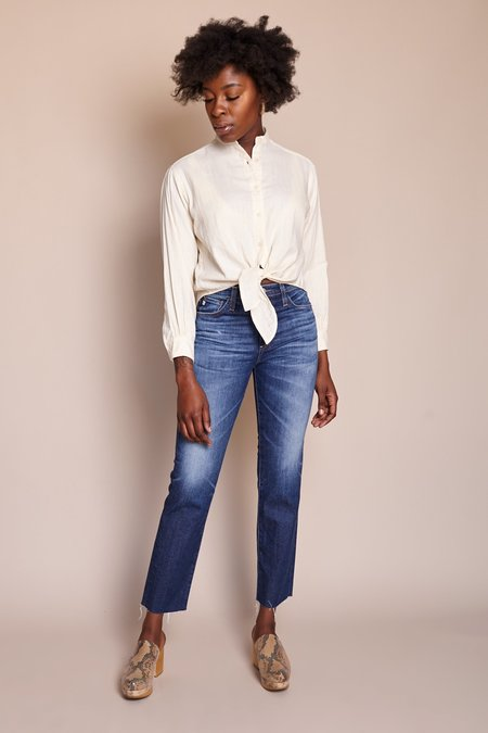 AG Jeans Isabelle Straight Crop Jean - 11 Years Fortitude