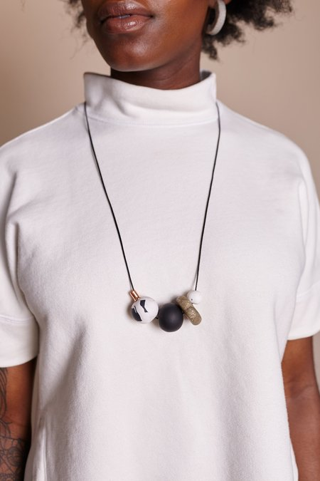 Peppertrain Weekend Gold Disc Necklace
