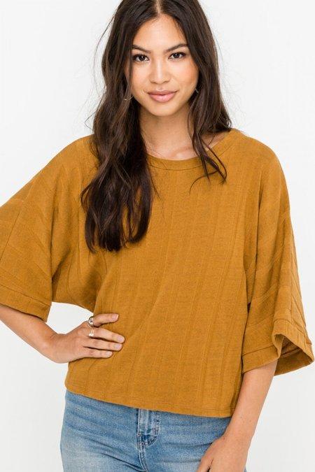 Lush Dolman Knit Top - Camel