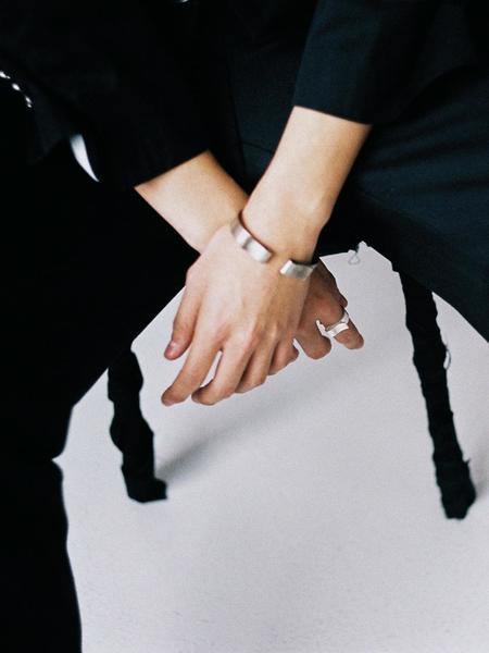 Unisex GOYU Basic Money Clip Ring - Silver