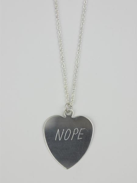 IGWT Nope Sweet Nothing Necklace - Sterling Silver
