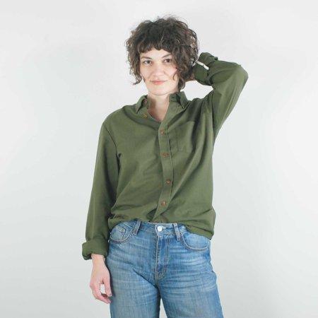 Unisex Atelier b. Cotton Shirt - Olive