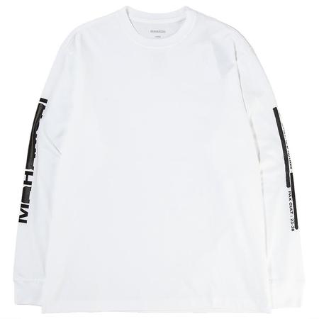 Maharishi Redacted Miltype Long Sleeve T-shirt - White