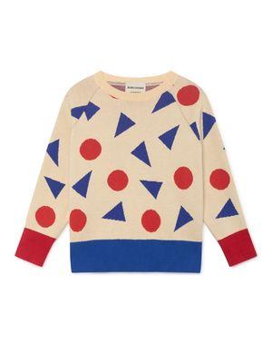 33a759749 kids Bobo Choses Cardigan Sweater - Blue Pink Squares