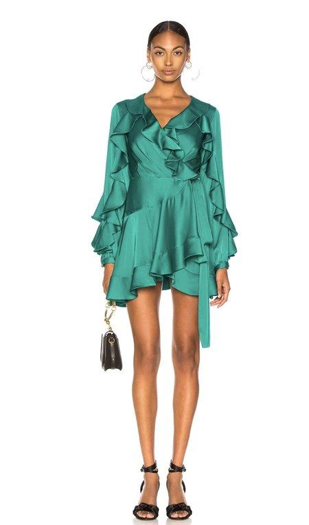 Patbo Ruffle Wrap Mini Dress