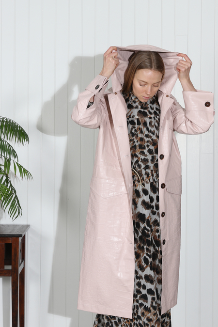 Nanushka Gus Oversized Duster Coat - Blush