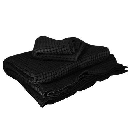 Moumout Paris Large Honeycomb Towel Kit - Ink Black
