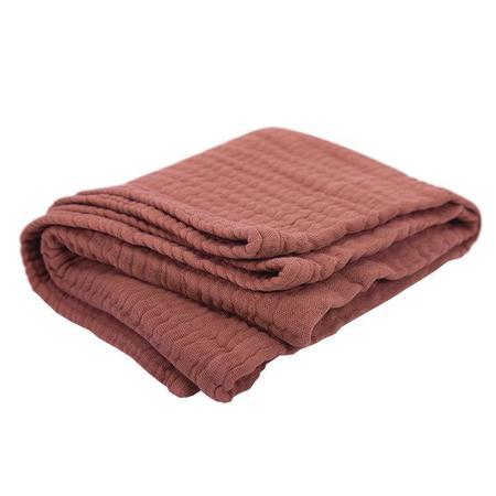 KIDS Moumout Paris Panpan Blanket - Terracota Brown