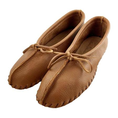 Hides In Hand Moccasin Ballet Slippers - Saddle Tan Brown