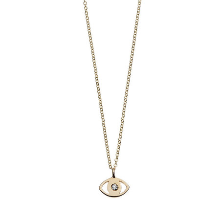 Minor Obsessions EVIL EYE WITH DIAMOND NECKLACE