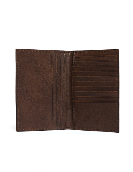 Ugo Cacciatori Passport Wallet - Brown